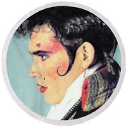Adam Ant Round Beach Towel