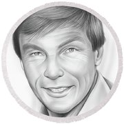 Adam West Round Beach Towel