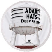 Adams Hats Deep Ellum Texas 061818 Round Beach Towel