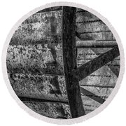 Adam's Mill Water Wheel Round Beach Towel