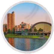 Adelaide Riverbank Panorama Round Beach Towel