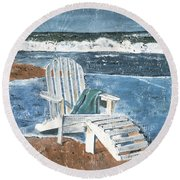 Adirondack Chair Round Beach Towel