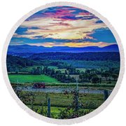Round Beach Towel featuring the photograph Adirondack Country by Kendall McKernon
