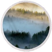 Adirondack Fog Round Beach Towel