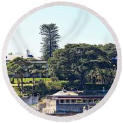 Round Beach Towel featuring the photograph Admiralty House by Stephen Mitchell