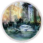 Admiralty Island Round Beach Towel