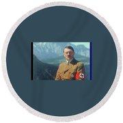 Adolf Hitler  Agfacolor  Berghof Berchtesgaden Bavaria Heinrich Hoffmann Photo Circa 1940 Round Beach Towel
