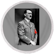 Adolf Hitler The Visionary Circa 1941 Color Added 2016 Round Beach Towel