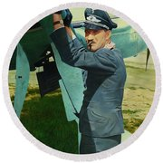 Adolf Round Beach Towel