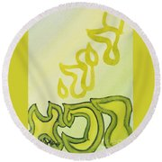Adonai Rophe - God Heals Round Beach Towel