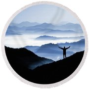 Adoration Of Natural Beauty Round Beach Towel