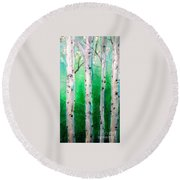 Aspen Grove Round Beach Towel