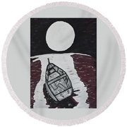 Adrift Round Beach Towel