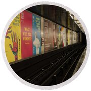 Ads Underground Round Beach Towel