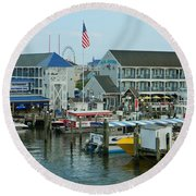 Adult Fun - Ocean City Md Round Beach Towel by Emmy Marie Vickers