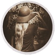 Adventures Out Yonder Round Beach Towel