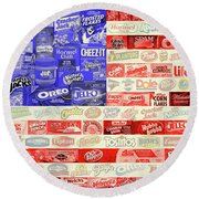Advertising Flag Round Beach Towel