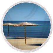 Aegean Sea Round Beach Towel