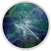 Aeon Of The Celestials Round Beach Towel