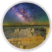 Aeons Of Time Round Beach Towel