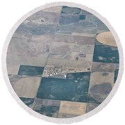 Round Beach Towel featuring the photograph Aerial 1 by Steven Richman