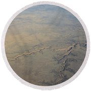 Round Beach Towel featuring the photograph Aerial 2 by Steven Richman