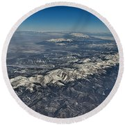 Round Beach Towel featuring the photograph Aerial 3 by Steven Richman