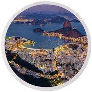 Aerial Rio Round Beach Towel