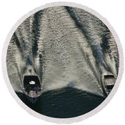 Aerial Wash Round Beach Towel