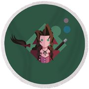 Round Beach Towel featuring the digital art Aeris by Michael Myers
