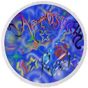 Aerosmith  Round Beach Towel by Kevin Caudill