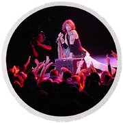 Aerosmith-steven Tyler-00088 Round Beach Towel by Gary Gingrich Galleries
