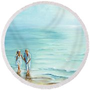 Affection Round Beach Towel
