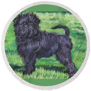 Affenpinscher Round Beach Towel