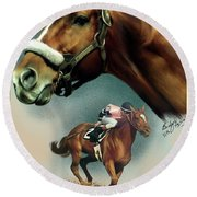 Affirmed With Name Decor Round Beach Towel