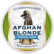 Afghan Blonde Premium Lager Round Beach Towel