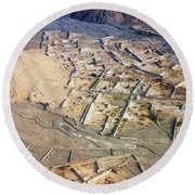 Afghan River Village Round Beach Towel