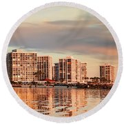 Afloat 6x14 Panel 5 Round Beach Towel