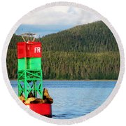 Afloat  Round Beach Towel