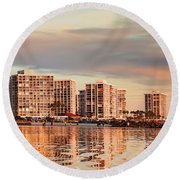 Afloat Panel 5 16x Round Beach Towel