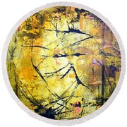 Aforethought Abstract Round Beach Towel