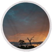 Africa Round Beach Towel
