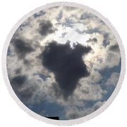 Africa Cloud Shape  Round Beach Towel by Don Koester