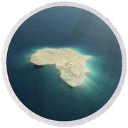 Africa Conceptual Island Design Round Beach Towel