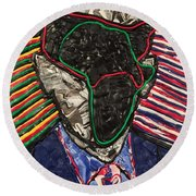 African American History Round Beach Towel