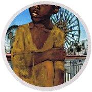 African Boy 1907 Round Beach Towel