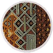 Round Beach Towel featuring the digital art African Kuba View From Earth by Vagabond Folk Art - Virginia Vivier
