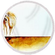 African Marriage - Original Artwork Round Beach Towel