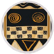 African Memories Round Beach Towel by Vagabond Folk Art - Virginia Vivier
