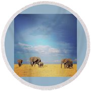 African Perfection Round Beach Towel